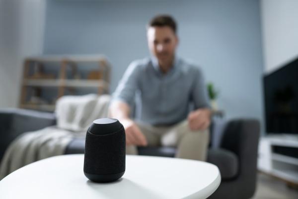 close up of wireless speaker on