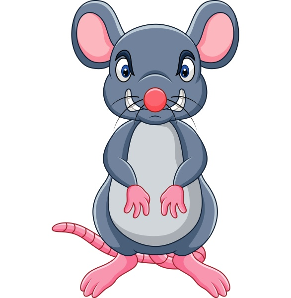 cartoon angry mouse