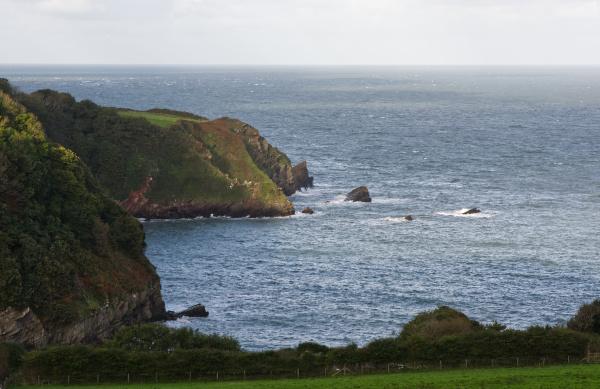 atlantic ocean from lynton devon england