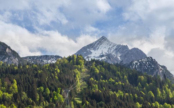 alpspitze, garmisch, partenkirchen, bavaria, germany - 28001932