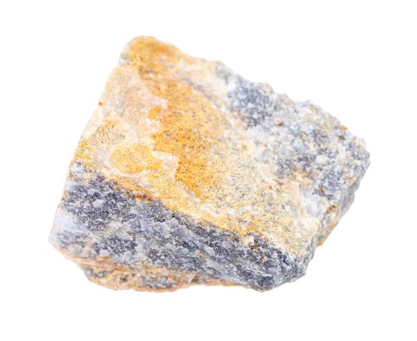 raw corundum rock isolated on white