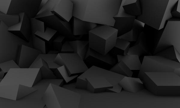 minimalist black background with square geometric