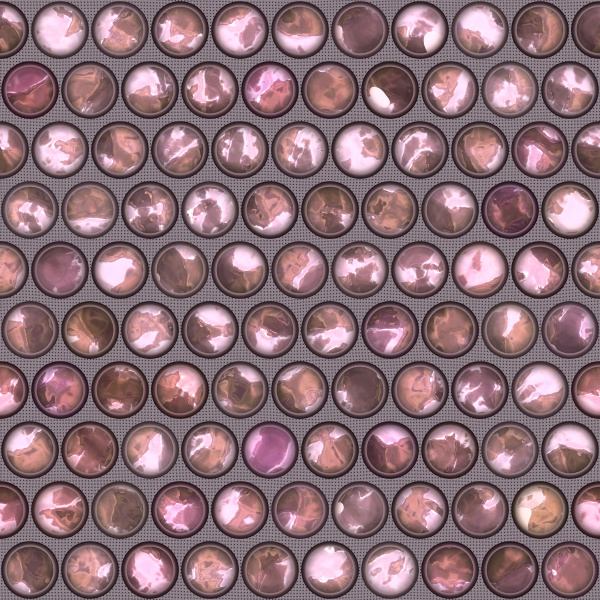 allover pattern tile with circles