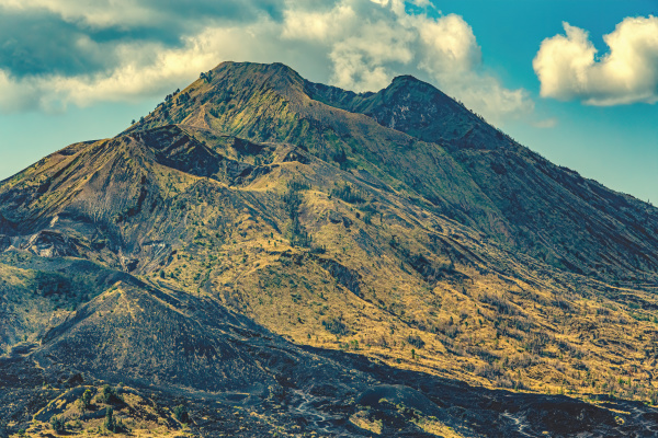mount batur one of the famous