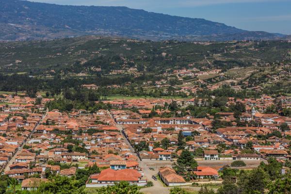 villa de leyva skyline cityscape boyaca
