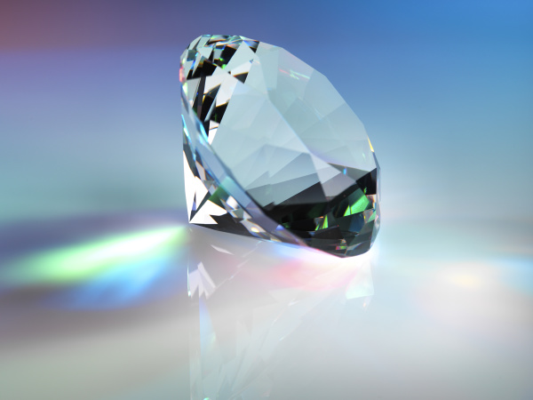 close up of diamond on table