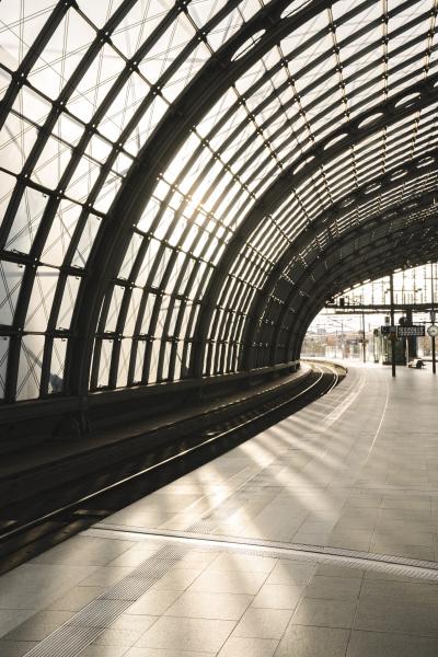 empty platform at central station berlin
