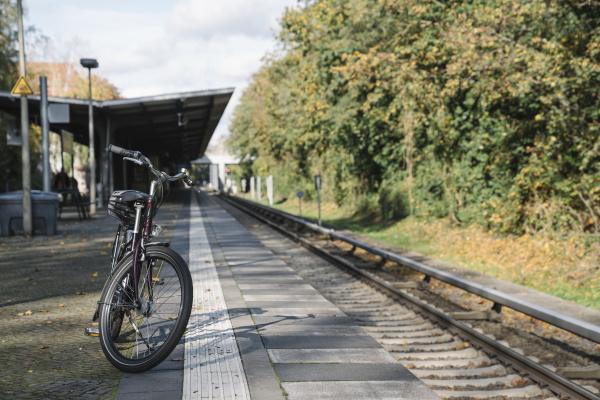 bicycle on an underground station platform