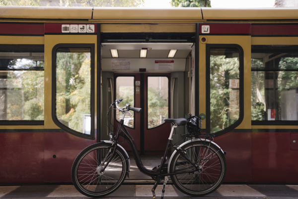 bicycle at the door of an