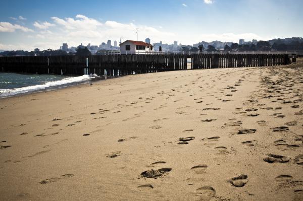usa california san francisco footprints on