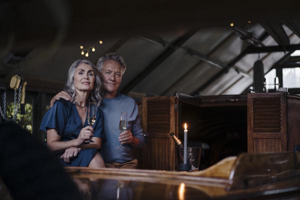 portrait of senior couple having a
