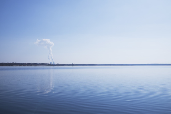 scenic view of lake cospuden against