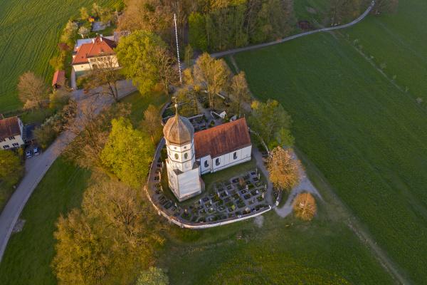 aerial view of st johann baptist