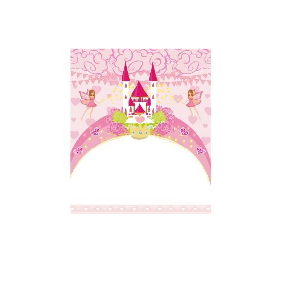fairytale frame with little fairies and