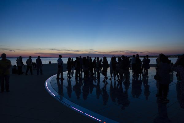 croatia zadar silhouettes of