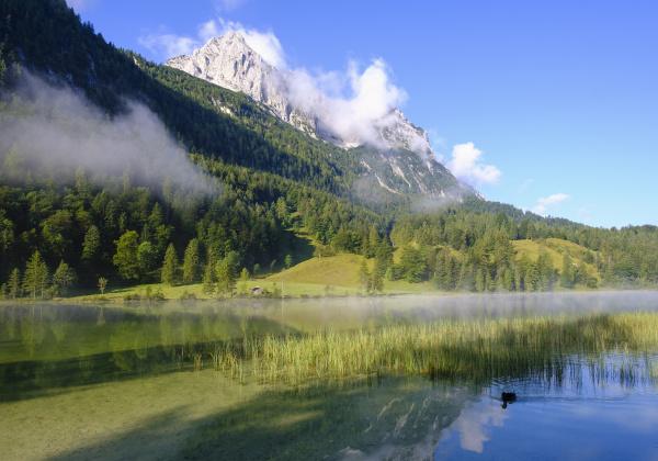 germany bavaria mittenwald scenic view offerchenseelake