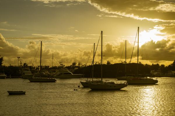 sailboats moored at harbor of ponce