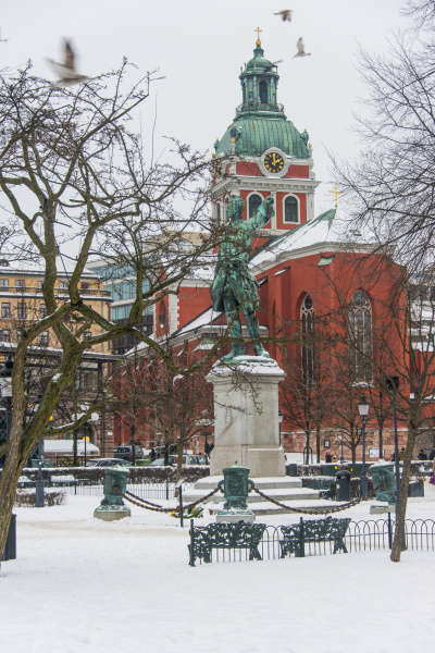 the kungstradgarden in winter stockholm