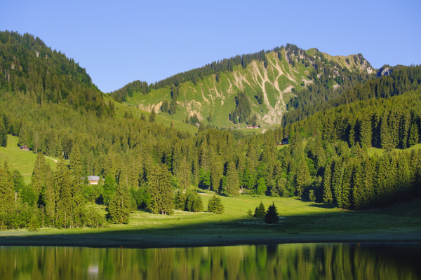 scenic view of bodenschneid mountain and