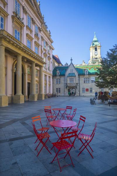 slovakia bratislava primates square exterior of