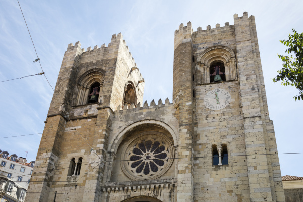 low angle view of lisbon cathedral