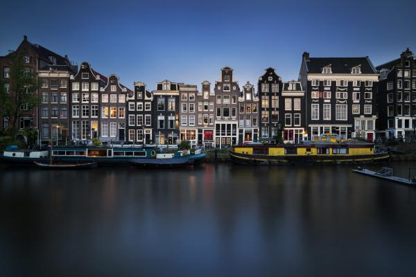 netherlands amsterdam various boats
