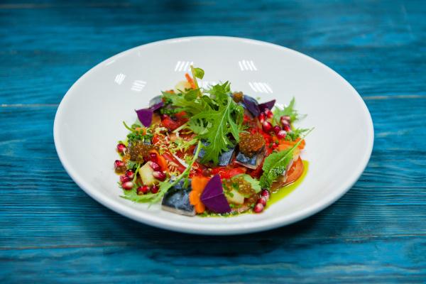 escabeche fish dish with caviar
