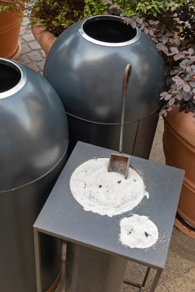 outdoor ashtray sand