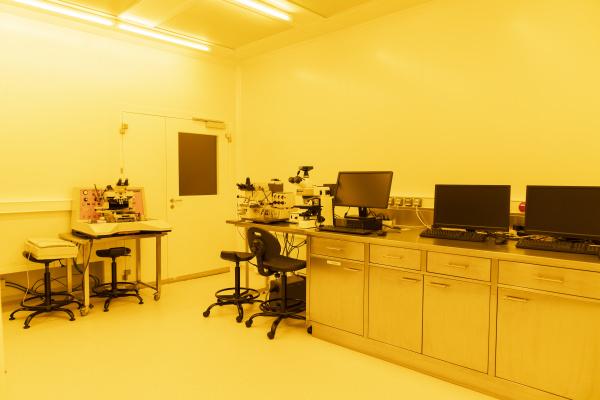 interior of a laboratory in artificial
