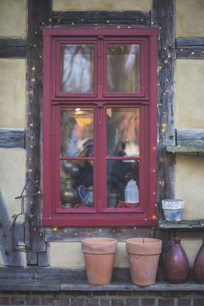 germany brandenburg red window with christmas