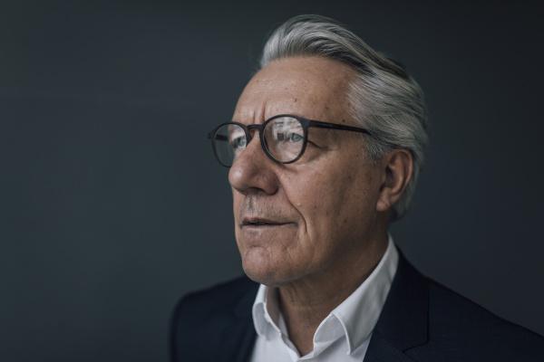 portrait of a senior businessman looking