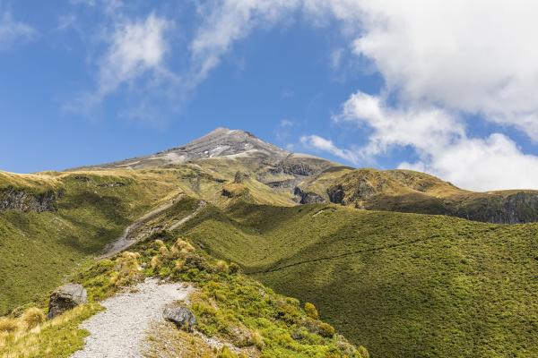 new zealand scenic view of mounttaranakivolcano