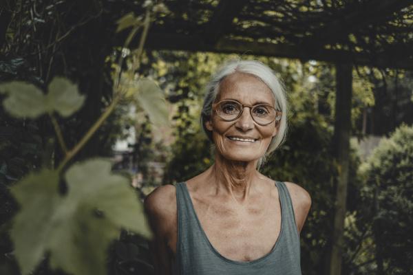 portrait of a senior woman wearing
