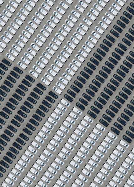 aerial view of large number of