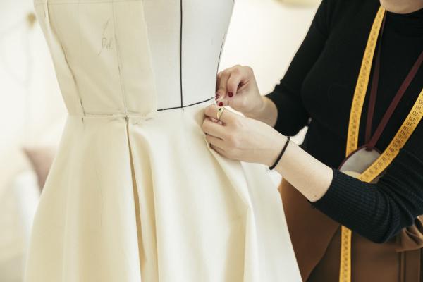 fashion designers hands at work