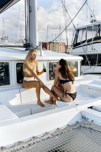 two beautiful women enjoying a summer