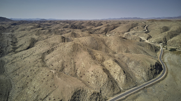 aerial view of a dirty track