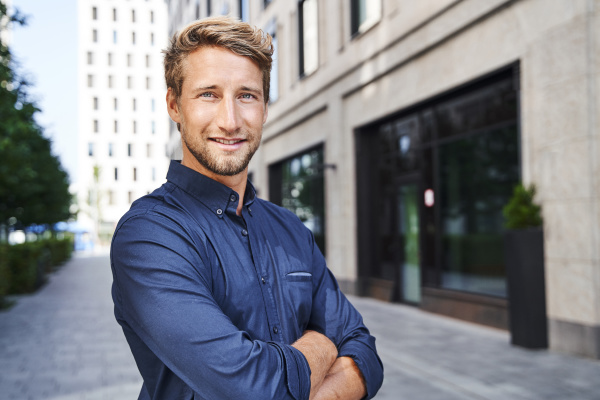 portrait of confident young businessman in