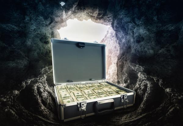 case full of dollars