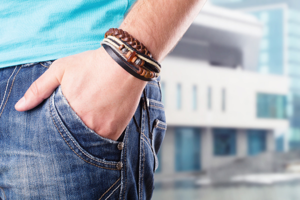 male with his hand in pocket