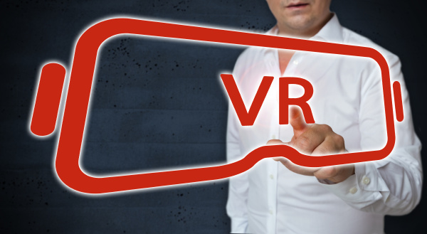 virtual reality glasses touchscreen is operated