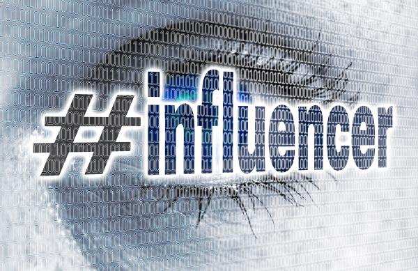 influencer eye with matrix looks on