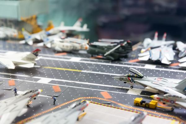 miniature model of aircraft carrier runway