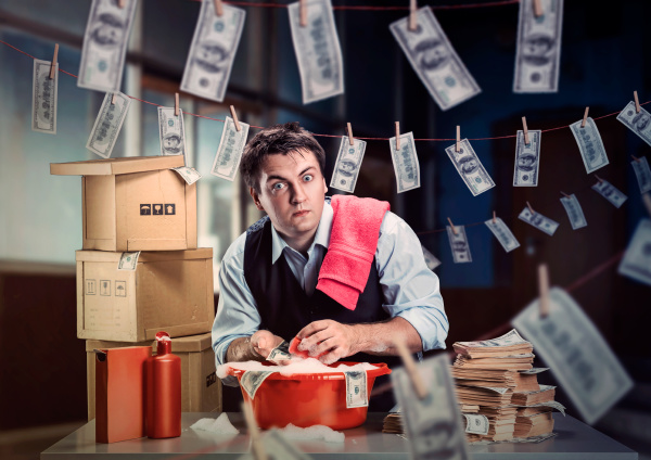 scared, businessman, is, laundering, money - 28065048