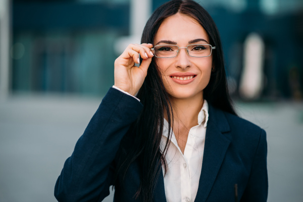 portrait of business woman in glasses