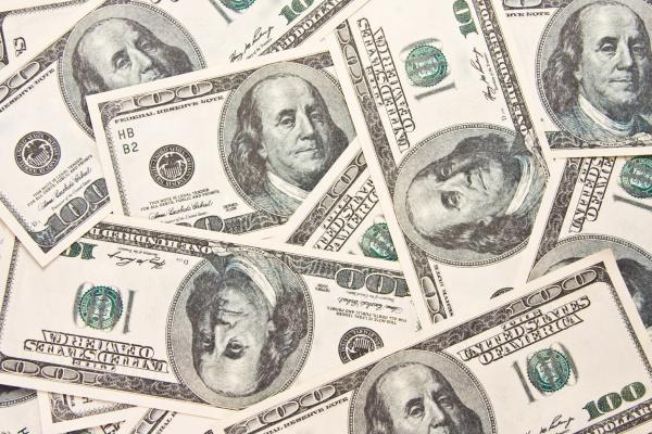 100 bills background