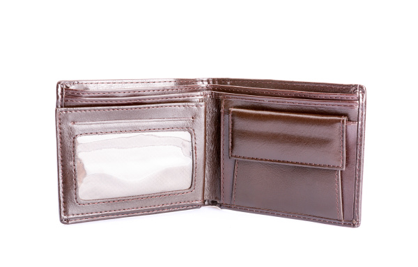 leather wallet isolated on white