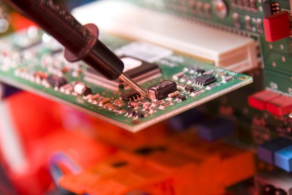 electronics engineer at work