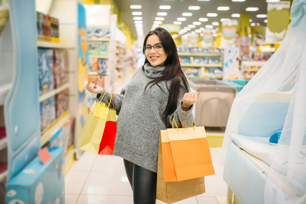 woman shopping in the store for