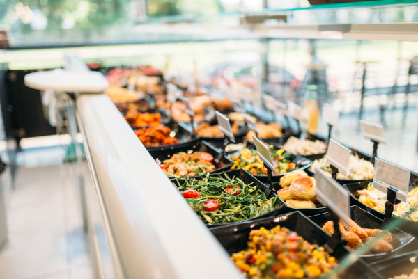 fresh cooked food in store